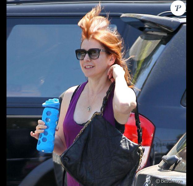 La sympathique Alyson Hannigan va à son cours de gym à Los Angeles, le 31 juillet 2012