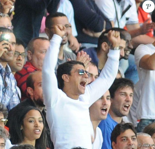 Saïd Taghmaoui lors de la rencontre amicale entre le PSG et le FC Barcelone (2-2) le 4 août 2012 au Parc des Princes