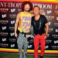 Jean-Roch et Redfoo de LMFAO lors de la soirée du 6 août 2012 au VIP ROOM de Saint-Tropez