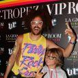 RedFoo de LMFAO et Andrea le futur photographe au VIP ROOM de Saint-Tropez le 6 août 2012