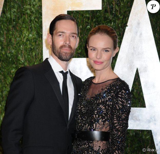 Kate Bosworth et Michael Polish en février 2012 lors de la soirée Vanity Fair des Oscars