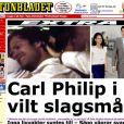 Comme pour  Aftonbladet , la bagarre du prince Carl Philip devant le club Baoli de Cannes a fait la une de toute la presse continentale...
