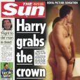 """Harry Miller, la ''doublure'' du prince Harry, en une de  The Sun  jeudi 23 août 2012"""