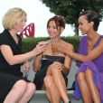 Natacha Regnier, Audrey Dana et Sonia Rolland posent pour le lancement du Festival du Film d'Angoulême, le 21 août 2012.