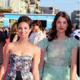 Mélanie Bernier et Astrid Bergès-Frisbey  lors de la cérémonie d'ouverture du 38e Festival du cinéma américain de Deauville, le 31 août 2012.