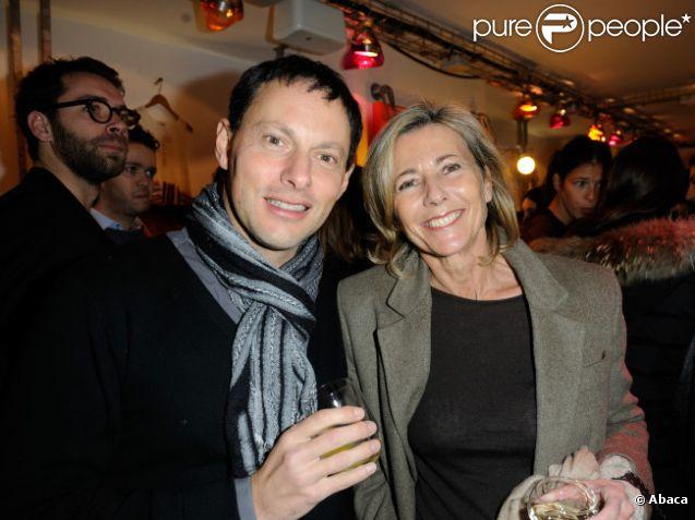 Marc-Olivier Fogiel et Claire Chazal en février 2012 à Paris
