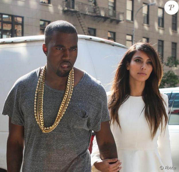 Kanye West décontracté et Kim Kardashian sur son 31 se rendent au cinéma pour voir le film ParaNorman. New York, le 1er septembre 2012.