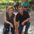 Fabien Lecoeuvre et l'actrice Anne Richard à New York, août 2012.