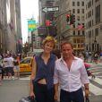Fabien Lecoeuvre et Anne Richard à New York, août 2012.