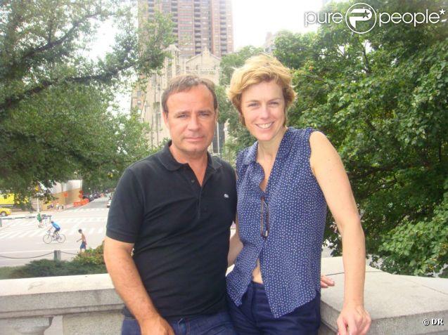 Fabien Lecoeuvre et Anne Richard célèbrent six ans d'amour à New York, août 2012.