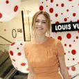 Marie-Josée Croze lors de l'inauguration du pop-up store Louis Vuitton x Yayoi Kusama au grand magasin Printemps. Paris, le 4 septembre 2012.