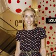 Alexandra Golovanoff lors de l'inauguration du pop-up store Louis Vuitton x Yayoi Kusama au grand magasin Printemps. Paris, le 4 septembre 2012.