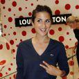 Géraldine Nakache lors de l'inauguration du pop-up store Louis Vuitton x Yayoi Kusama au grand magasin Printemps. Paris, le 4 septembre 2012.