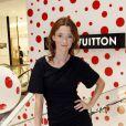 Audrey Marnay lors de l'inauguration du pop-up store Louis Vuitton x Yayoi Kusama au grand magasin Printemps. Paris, le 4 septembre 2012.