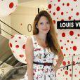 Camille Seydoux lors de l'inauguration du pop-up store Louis Vuitton x Yayoi Kusama au grand magasin Printemps. Paris, le 4 septembre 2012.