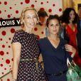 Alexandra Golovanoff et Géraldine Nakache assistent à l'inauguration du pop-up store Louis Vuitton x Yayoi Kusama au grand magasin Printemps. Paris, le 4 septembre 2012.