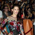 Kristen Stewart, superbe femme fatale lors de la présentation de  Sur la route  au Festival de Toronto, le 6 septembre 2012.