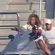 Jay-Z et Beyoncé s'apprêtent à faire du jet-ski à Saint-Jean-Cap-Ferrat, le 7 septembre 2012