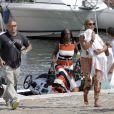 Beyoncé tient sa fille Blue Ivy, le 8 septembre 2012 à Beaulieu-sur-mer