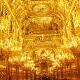 Ambiance au dîner offert par Cartier dans le foyer du Palais Garnier après le concert de George Michael en faveur de Sidaction, à Paris, le 9 septembre 2012.