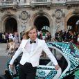 Christophe Guillarmé devant le Palais Garnier pour le concert de George Michael et le gala en faveur de Sidaction, à Paris, le 9 septembre 2012.