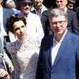 Mariage de Farida Khelfa et Henri Seydoux à la mairie du 17 arrondissement de Paris, le 1er septembre 2012.