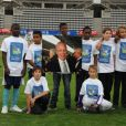 Hommage à Thierry Roland lors d'un match de gala opposant le Variété Club de France à la Sélection républicaine au Stade Charlety à Paris le 12 septembre 2012 en hommage à Thierry Roland et pour les 80 ans du foot pro
