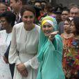 Le prince William et son épouse Kate ont visité la mosquée Assyakirin à Kuala Lumpur lors de leur étape malaisienne du voyage en Asie du sud-est qu'ils effectuent dans le cadre du Jubilé de diamant de la reine Elizabeth II le 14 septembre 2012