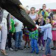 Le prince Christian et la princesse Isabella de Danemark, un peu intimidée par un éléphant, assistaient le 3 septembre 2012 à une représentation du Cirkus Dannebrog au profit de la Danish Kidney Disease Association, dont Mary est la marraine.