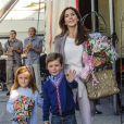 Le prince Christian et la princesse Isabella de Danemark, avec leur mère la princesse Mary, assistaient le 3 septembre 2012 à une représentation du Cirkus Dannebrog au profit de la Danish Kidney Disease Association, dont Mary est la marraine.