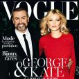 Kate Moss et George Michael photographiés par Mario Testino en couverture de Vogue Paris d'octobre 2012. En kiosques le 24 septembre.