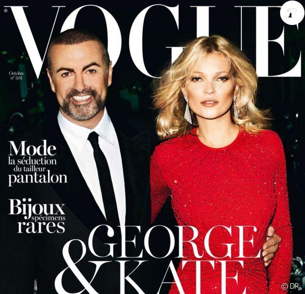 Kate Moss et George Michael photographiés par Mario Testino en couverture de Vogue Paris d'octobre 2012. En kiosques le 24 septembre.