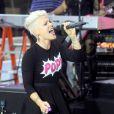 Pink sur le plateau du  Today Show  sur NBC en direct du Rockefeller Center à New York, le 18 septembre 2012.