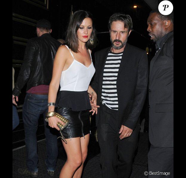 David Arquette et sa compagne, la belle Christina McLarty à West Hollywood, le 20 septembre 2012