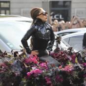 Lady Gaga : Jaguar fleurie, fourrure blanche... la diva a fait le show à Paris !