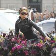 Lady Gaga présente son nouveau parfum Fame au magasin Sephora sur les Champs-Elysées le 23 septembre 2012