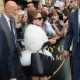 Lady Gaga arrive dans une superbe Jaguar sur les Champs-Elysées afin de présenter son parfum Fame chez Sephora le 23 septembre 2012 à Paris
