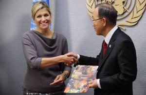 Princesse Maxima : Pendant sa visite à l'ONU, ses filles deviennent timbrées