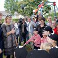 Le prince Willem-Alexander et la princesse Maxima lors de la Journée des voisins, le 22 septembre 2012 à Uden.