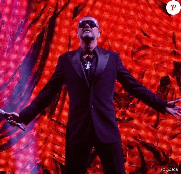 George Michael, à Manchester dans le cadre de sa tournée Symphonica septembre 2012