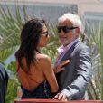 Barbara Gandolfi et Jean-Paul Belmondo en mai 2012 à Cannes