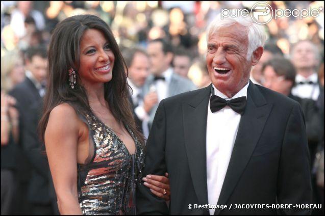 Jean-Paul Belmondo et sa compagne Barbara Gandolfi à Cannes en mai 2011