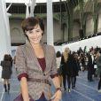 Inès de la Fressange au défilé Chanel organisé au Grand Palais le 2 octobre 2012