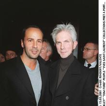 Tom Ford et Richard Buckley en 2001à Paris