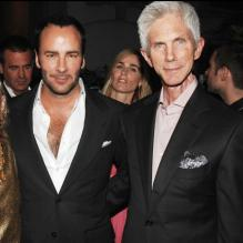 Tom Ford et Richard Buckley en 2006 à Londres. Le couple a accueilli le 23 septembre 2012 un petit Alexander.