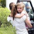 Jennifer Garner emmène ses filles Seraphina et Violet à une fête, le 6 octobre 2012 à Los Angeles