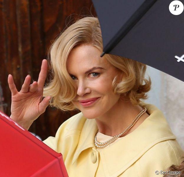 Nicole Kidman sur le tournage de Grace de Monaco réalisé par Olivier Dahan - Menton, France, le 9 octobre 2012