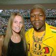 Djibril Cisse et sa femme Jude à Roland-Garros le 3 juin 2006 à Paris
