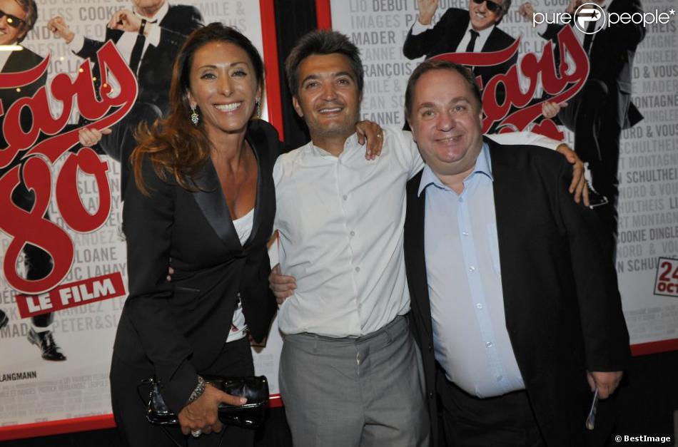 Sabrina, Thomas Langmann et Olivier Kaefer venus présenter  Stars 80  au festival d'Angoulême, le 24 août 2012.