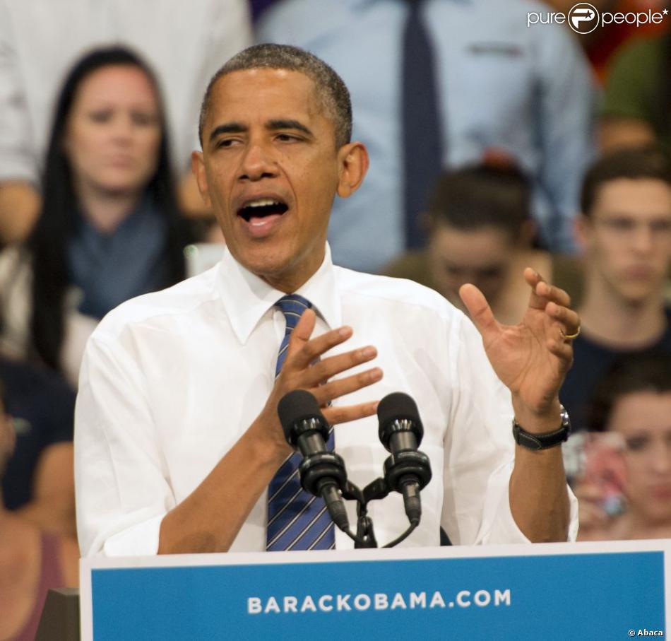 barack obama en campagne miami le 11 octobre 2012. Black Bedroom Furniture Sets. Home Design Ideas